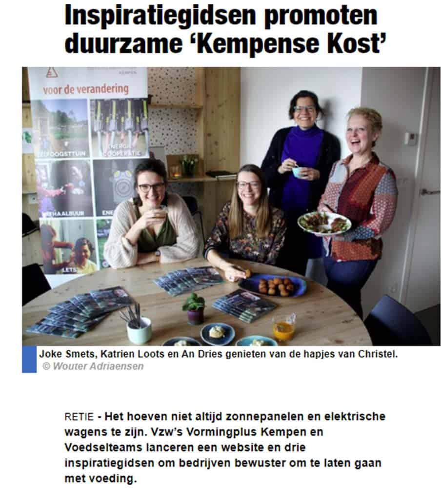 Christels Keuken in het Nieuwsblad